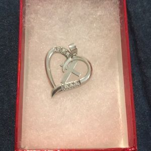 Never worn Heart, cross, and CZ PENDANT only